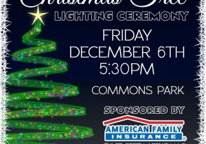 Community Tree Lighting in Lake Mills