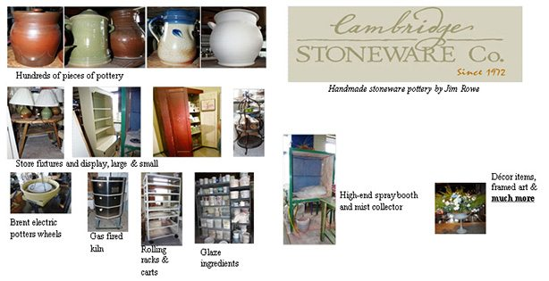 Cambridge Stoneware Liquidation-Everything must go!