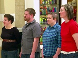 Team Casual Joe's and Team Wrap Trap on the Food Network's Food Court Wars
