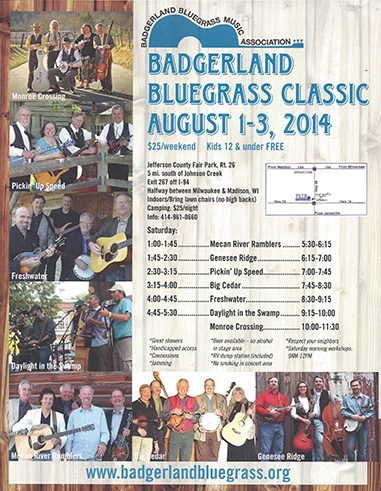 Badgerland Bluegrass Festival