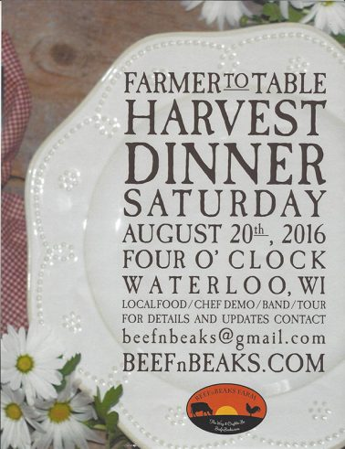 Farmer to Table Harvest Dinner