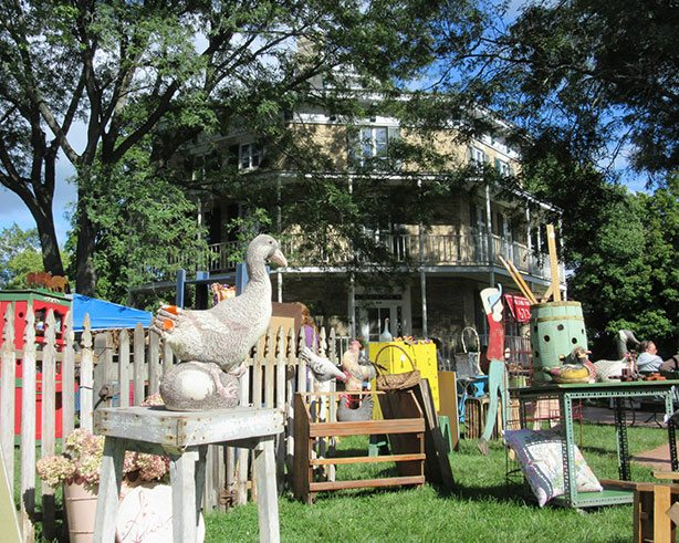 Antiques in front of Octagon House