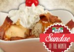 maple bacon brittle sundae of the month