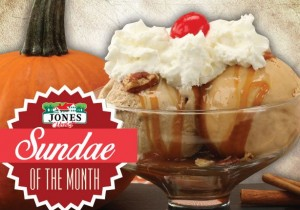 pumpkin spice sundae of the month