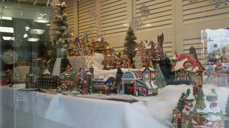 Christmas Village Window Display