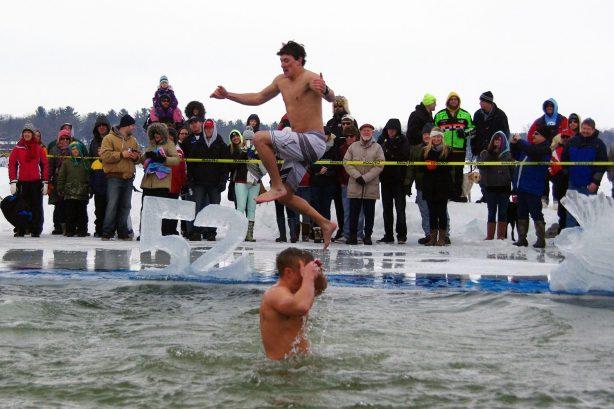 Dip for Dozer Plunge into Lake Ripley