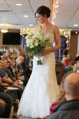 Bride on runway at Watertown Bridal Fair