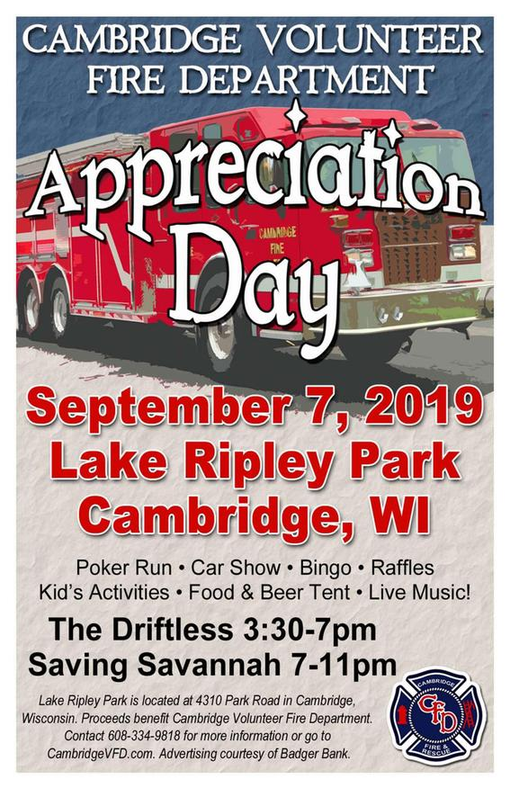 Cambridge Volunteer Fire Department Community Appreciation Day