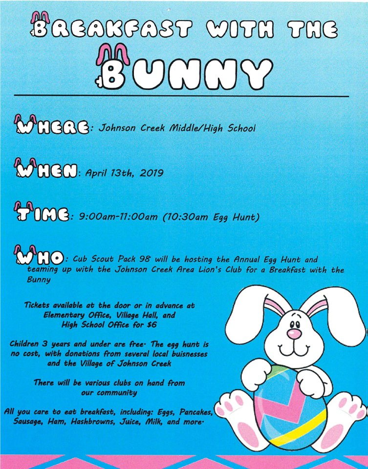 Breakfast with the Bunny & Community Egg Hunt