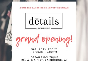 Details Boutique Grand Opening