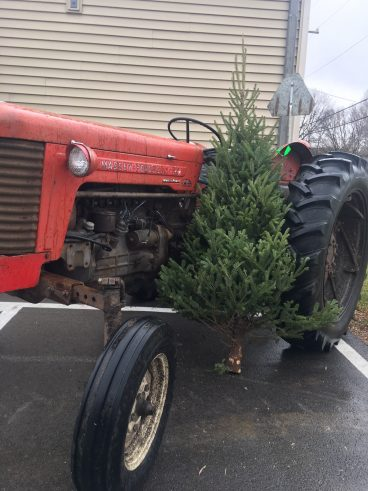 Crossroads Vintage Christmas Tree and Tractor