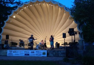 barrie park band shell summer charity concert on stage