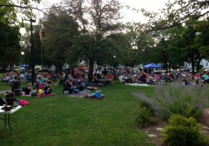 Summer Charity Concert viewers at barrie park