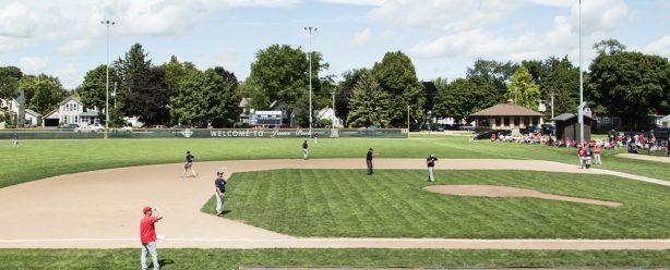 baseball field at jones park in fort atkinson