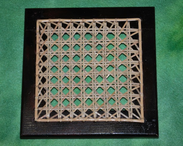 chair caning trivet