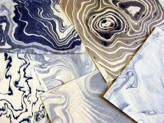 Suminagashi Floating Inks papers