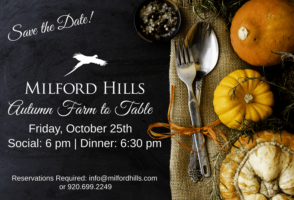 Autumn Farm to Table Event at Milford Hills