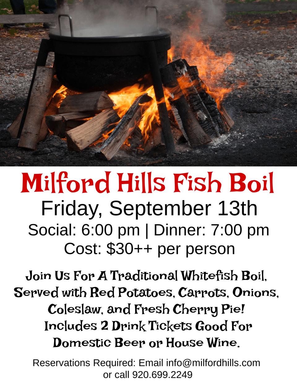Milford Hills Fish Boil
