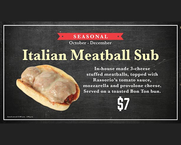 Jones Market Italian Meatball Sub