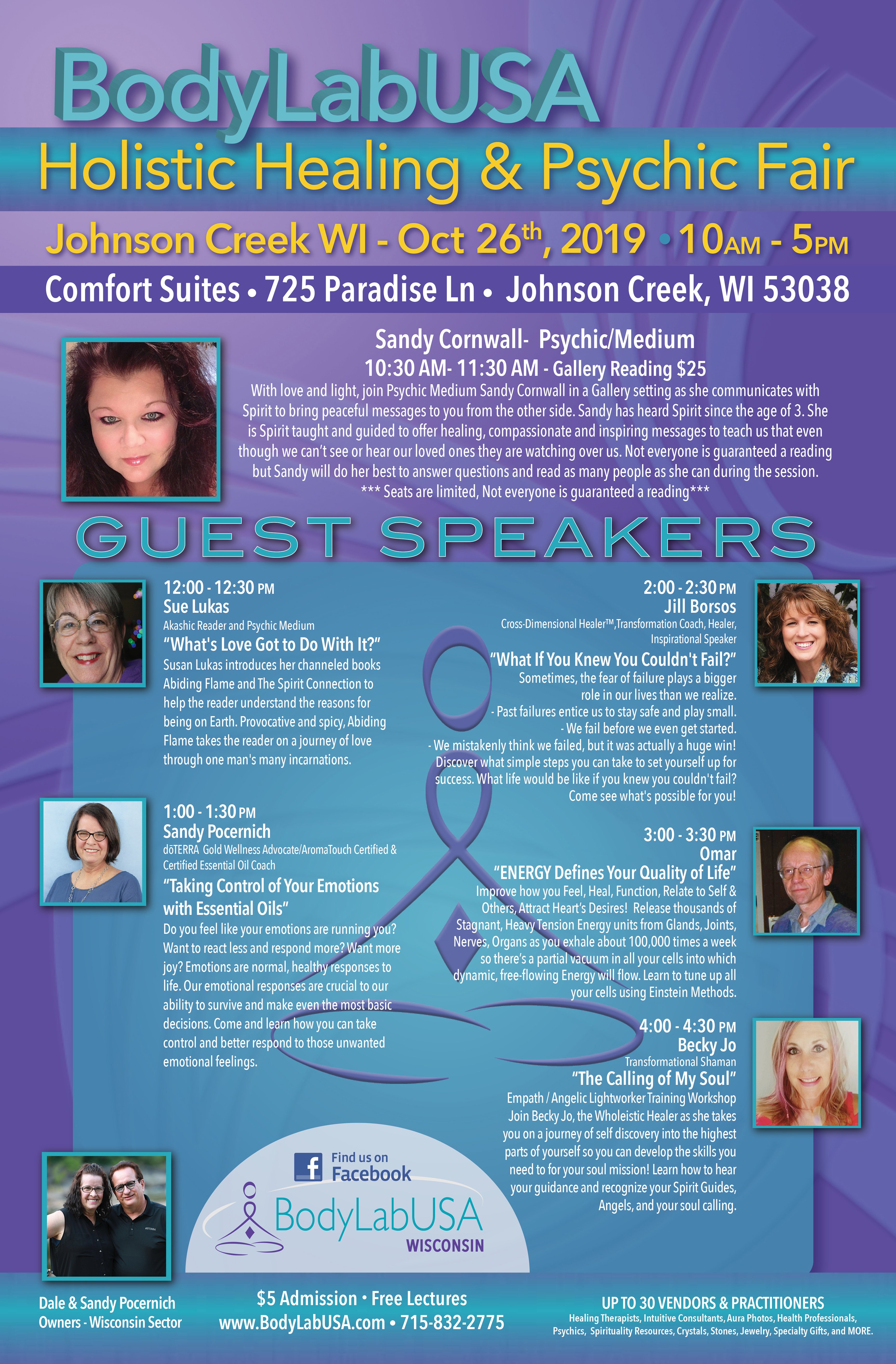BodyLabUSA: Holistic Healing & Psychic Fair
