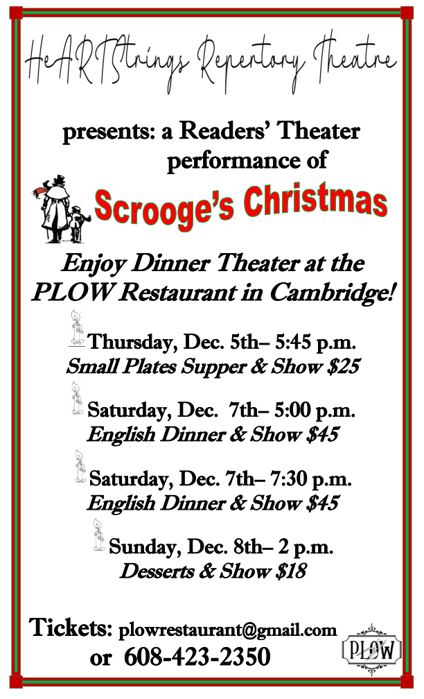 Scrooge's Christmas Reader's Theatre in Cambridge