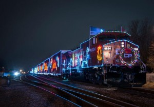 CP Holiday Train Stop in Watertown