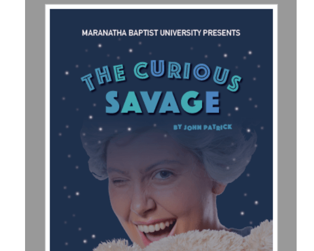 Poster for Curious Savage play