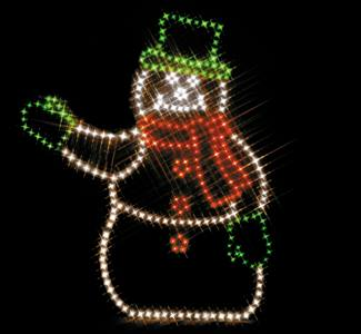 Holiday Lights at Lake Ripley Park snowman