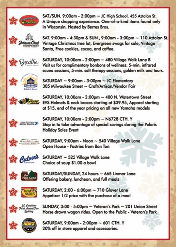 Johnson Creek Holiday Events