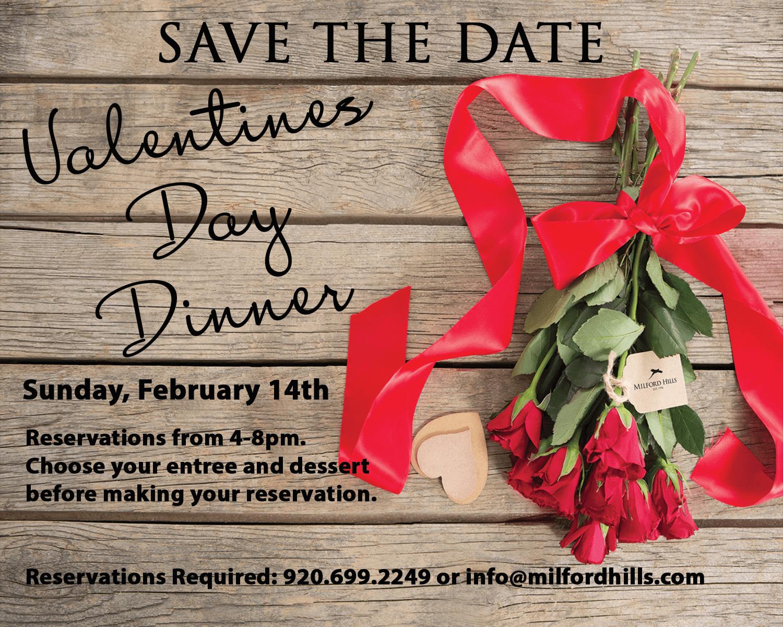 Valentine's Day Dinner at Milford Hills